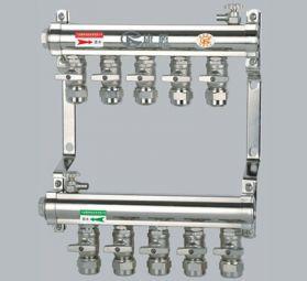 康腾C005款铜镀镍活接分水器